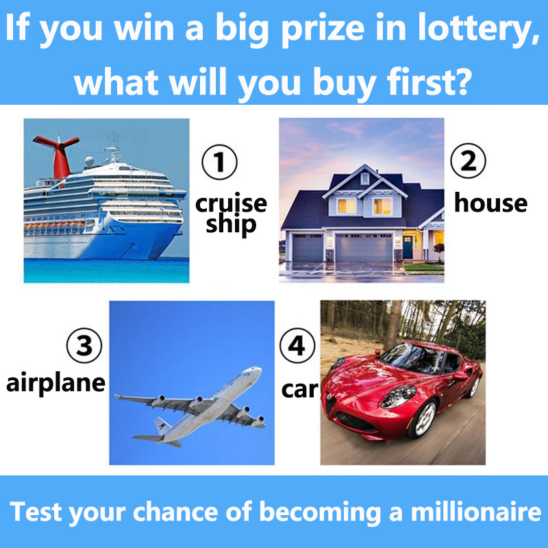 If you win the big prize in lottery, what will you buy first?