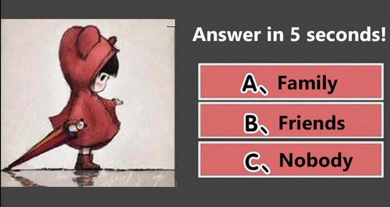 Answer in 5 seconds! Who do you intuitively think the little girl is waiting for? See how deep you hide yourself!